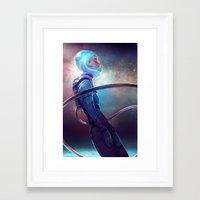 loish Framed Art Prints featuring silence by loish