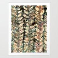 herringbone Art Prints featuring Herringbone by Janice MacDougall