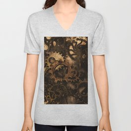 Gear Changer - Steampunk Gears and Cogs Unisex V-Neck
