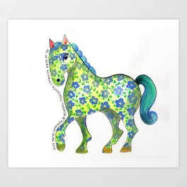 Caballo Serie amimales domésticos colombianos Art Print