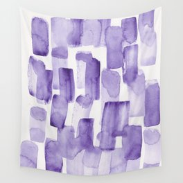 Purple Watercolour Patterns | 190129 Abstract Art Watercolour Wall Tapestry