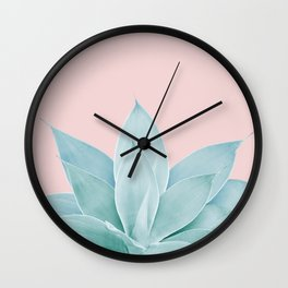 Blush Agave #2 #tropical #decor #art #society6 Wall Clock