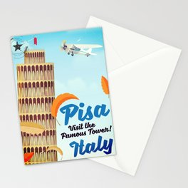 Pisa Italian vacation poster Stationery Cards