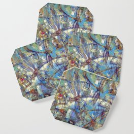 Dragonflies in blue Coaster