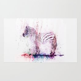 Watercolor Wash Zebra Rug