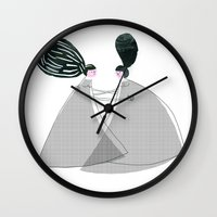 best friend Wall Clocks featuring Best friend by yael frankel