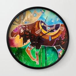 Fantastic Moose - Animal - by LiliFlore Wall Clock