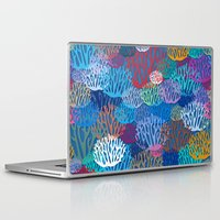 coral Laptop & iPad Skins featuring Coral by Helene Michau