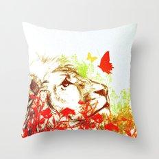 Beast and the Butterflies II Throw Pillow