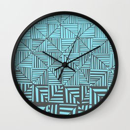 Red & Gray Pattern Wall Clock