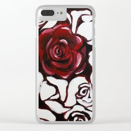 War of Roses Painting Clear iPhone Case
