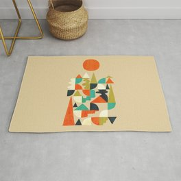 Mountains Hills and Rivers Rug