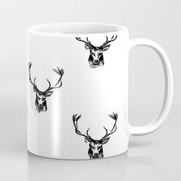 Christmas Deer Stag Antler Pattern Coffee Mug