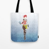 borderlands Tote Bags featuring Borderlands 2 - Lilith by LightningJinx
