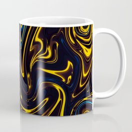Marbled Swirl Paint Smear Design like a Bumble bee? Coffee Mug