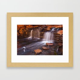 Small waterfall in the Hancock Gorge, Karijini NP, Western Australia Framed Art Print