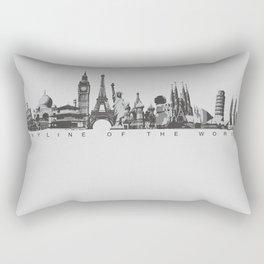 Skyline of the world Rectangular Pillow