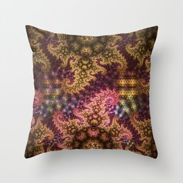 Dragon dreams, fractal pattern abstract Throw Pillow