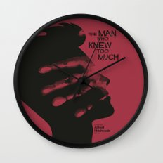 The Man who Knew Too Much - Alfred Hitchcock Movie Poster Minimal Wall Clock
