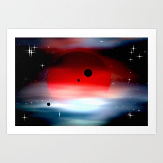 Planet deep in space. Art Print