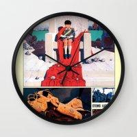 manga Wall Clocks featuring Manga 05 by Zuno
