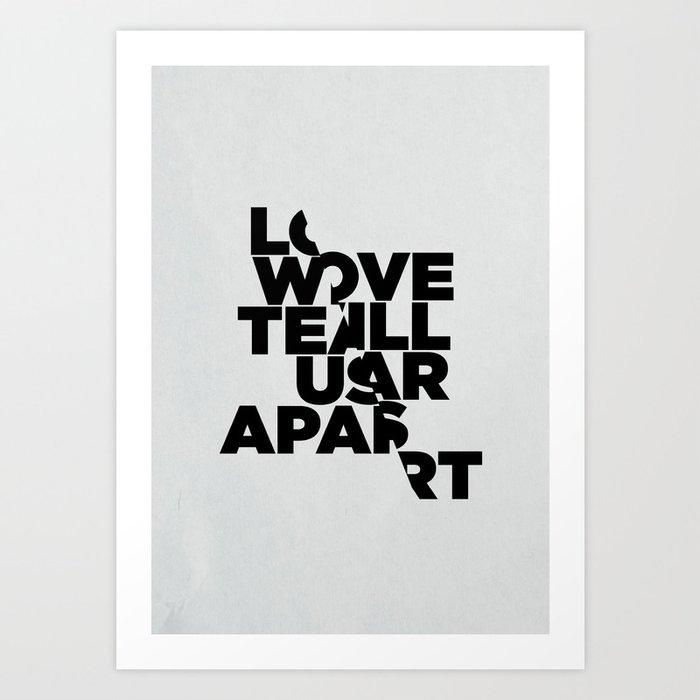 Love Will Tear Us Apart Znaczenie: LOVE WILL TEAR US APART Art Print By Threeofthepossessed
