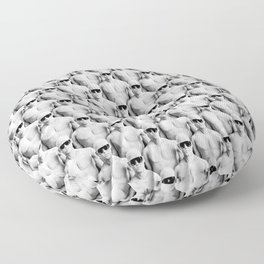 Cool Dudes / 3D render of male figures wearing sunglasses Floor Pillow