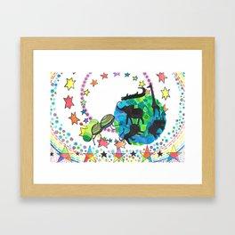 Earth Beetle Framed Art Print