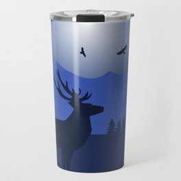 Mystical Night in the Mountains Travel Mug