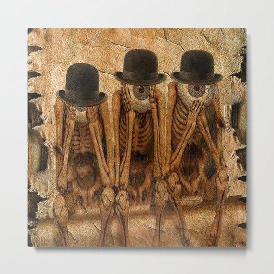 Monsieur Bone and the wisdom Metal Print