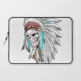 indian skull headdres tattoo Laptop Sleeve