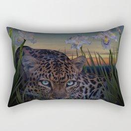 Leopard Stalking Rectangular Pillow