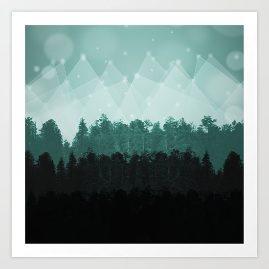 Forest Layers Art Print