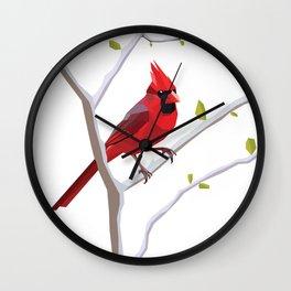 Geometric Cardinal Wall Clock