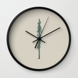 Love in the forest - tan Wall Clock