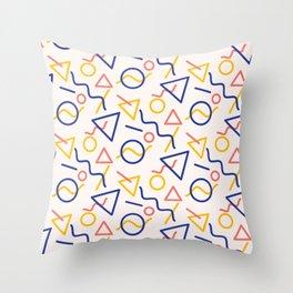Oh man, I hope you like shapes Throw Pillow