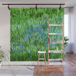 Forget Me Not Green Wall Mural