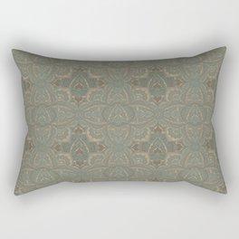 Art deco floral mandala 1 Rectangular Pillow