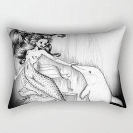 Playful Mermaid Rectangular Pillow