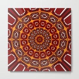 Dark red mandala Metal Print