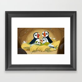Puffin Rock - In the burrow Framed Art Print