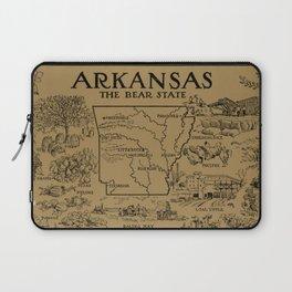 Vintage Map of Arkansas (1912) - Tan Laptop Sleeve