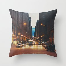 the streets of Chicago ... Throw Pillow