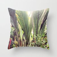 botanical Throw Pillows featuring Botanical by Fig and Berry Clothing