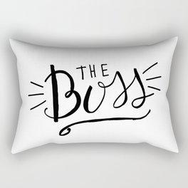 The Boss - black/white Hand lettering Rectangular Pillow