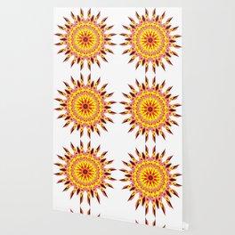 vintage sunflower mandala Wallpaper