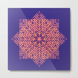 Geometric illusional effect style for home decoration Metal Print