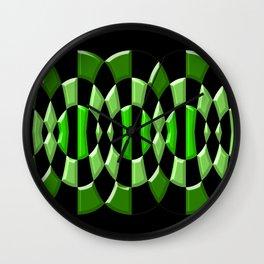 The Green Thang - Abstract Green and Black Retro Design Wall Clock