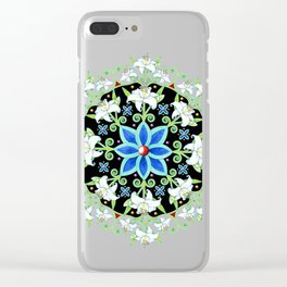 Folkloric Flower Crown Clear iPhone Case