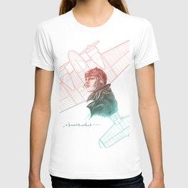 Amelia Earhart Courageous Adventurer T-shirt